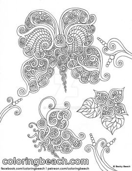 Printable Butterflies Coloring Sheet by Sirenz