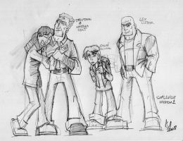 Smallville Sketch 2 by Kmadden2004