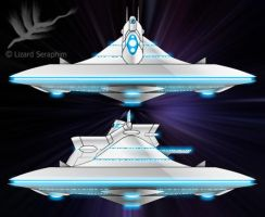 space-time battle ship by lizardseraphim