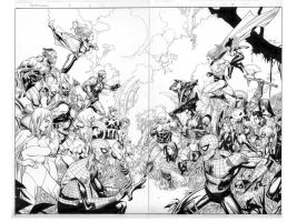 secret invasion 2 pgs 2 and 3 by MarkMorales