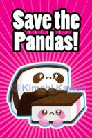 Save the Pandas Kickstarter Card by kimchikawaii