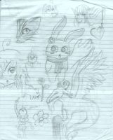 School Doodles.... by chiihime-chan