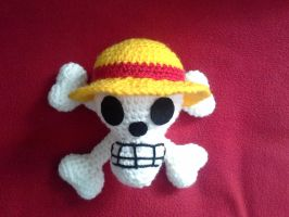 Strawhat jolly roger in 3D by VanillaHigh