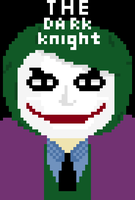 The Dark Knight fanmade pixel art poster by CrimeBaby