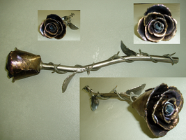 Metal Rose by pillsburydeadboy