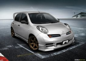 Nissan Micra K12_frontView by yasiddesign