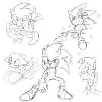Sonic Doodles by DTrain2695