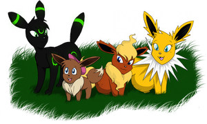 Eeveelutions Unite by Nicktoonacle