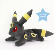 18in Umbreon plushie sewing pattern by TeacupLion