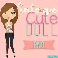 Vintage Cute Doll png by Girlspng