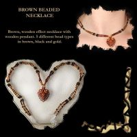 Brown Beaded Necklace by DoodlePixie
