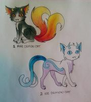 Demon Cat Adoptables ((CLOSED)) by Midnyte-Wolff