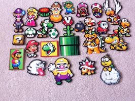 Mario Perler Beads by TheBeadLord