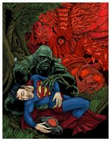 Superman and Swamp Thing 85 by brandnewcicada