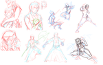 Buncha WIPS by snakes-on-a-plane