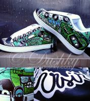 green monster shoes by dushky