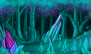 Crystal forest by MF99K