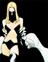 E - is for Emma Frost by anklesnsocks