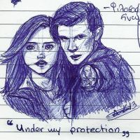 Under my protection by LunaHermione