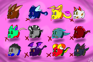 Goji adopts- Down to 5 Points Each! by cutie-pink