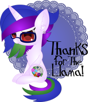Thanks for the llama! by Spophia