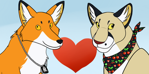 Fox and Puma Couple Icon Sept 2012 by PvtPuma