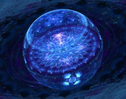 Flowered blue bubble by Iteron by Zenutron