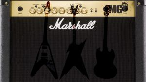 Guitar and amp wallpaper by cragus2