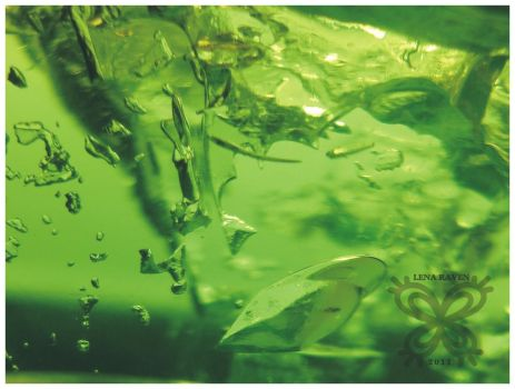 Green Abstract 08 by LenaRaven