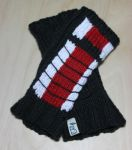 Mass Effect N7 Stripe Fingerless Gloves by BeanieBat