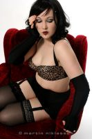 Leopard skin and red lips by TzR