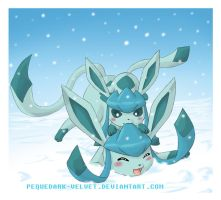 NEW YEAR: GLACEON by PEQUEDARK-VELVET