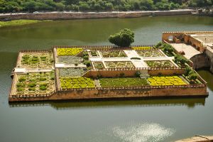 Amber Fort garden 1, Jaipur by wildplaces