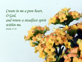 Psalm 51:10 by Keziamara