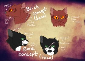Brick and Bone facial concepts by Dragon-In-A-Blue-Box