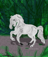 White Horse Forest by WildHorseFantasy