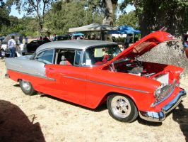 Red-Gray '55 BelAir hardtop by RoadTripDog