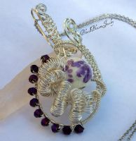 Purple Peacock by BlackBlossomJewelry