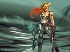 Miss Fortune , The Shotgunner by juliodelrio