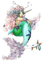 Mermaid Princess color by seiyachan