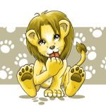 Commission: lion cub for birth card by Sofie3387
