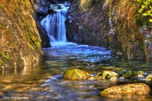 Autumn Waterfall in HDR by PhotoForever88