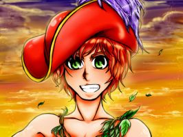 Follow the New Capitan, Peter Pan (color) by EndBritoNunes