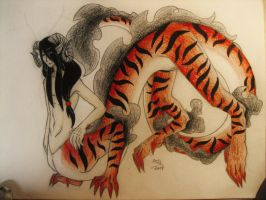 Tiger Dragontaur Adopt (CLOSED) by SiloBaby