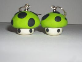 Mushroom Earrings by DeadlyOpheliac