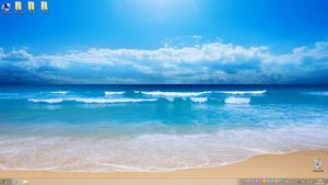 Beach desktop by LazyLaza
