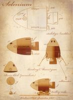 Jules Verne Style blueprint by WalterPQ