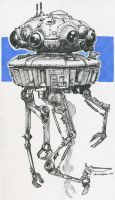 Robot 02 - Imperial Probe Droid by M-Everham