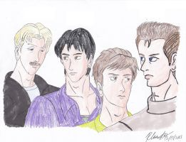 Check-6 - Team Banzai Pose as Mr. Mister by BlueWolfRanger95