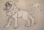 Cotton Candy Lion by LetheDreamer